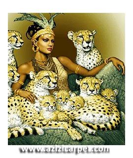 نخ و نقشه تابلو فرش ملکه چیتاها
