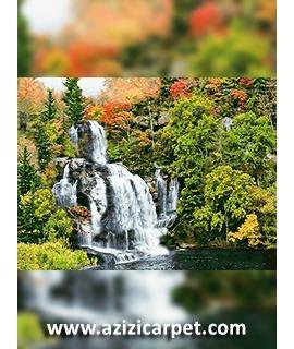 نخ و نقشه تابلو فرش آبشار