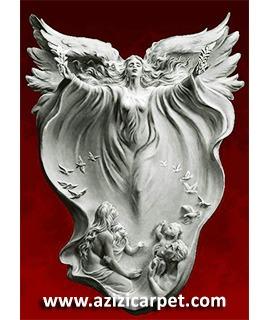 نخ و نقشه تابلو فرش فرشته