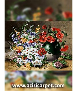 نخ و نقشه گل شلوغ