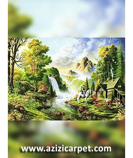 نخ و نقشه طبیعت و رودخانه