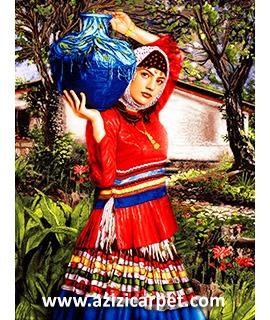 نخ و نقشه زن روستایی